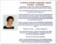 """Our Little Acre: """"I'm Speaking at DeShia's in Van Wert on Saturday, May 3rd!"""""""