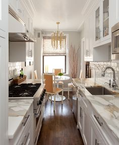 Serene Apartment Interior Design that Makes You Feel Comfort: Simple And Effective Narrowed Parallel Kitchen Interior Setting For Modern Lad...