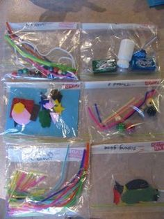 Perfect for church - Busy bags. Grab and go activities to keep the little girls entertained during school time.
