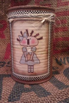 Raggedy Annie Upcycled Primitive Rusty Tin by TheLilPrimCabin, $9.00