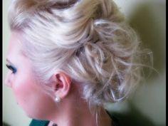 Mid Length Hair tutorial - Updo