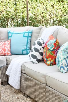 Outdoor pillows with