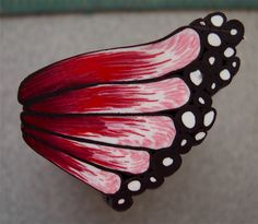 Free butterfly wing tutorial. 2nd view.  #Polymer #Clay #Tutorials