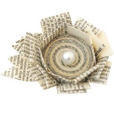Jewelry made from recycled book pages!