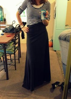 He & Me: DIY Maxi Skirt The best instructions i've found