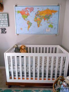Modern baby boy crib bedding