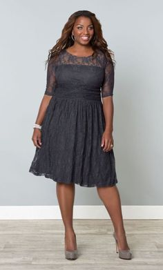 #plussize Luna Lace Dress in Twilight Grey at Curvalicious Clothes #bbw #curvy #fullfigured #plussize #thick #beautiful #fashionista #style #fashion #shop #online www.curvaliciousclothes.com TAKE 15% OFF Use code: TAKE15 at checkout