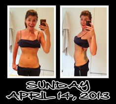 Witness the Fitness: Day 14 of my 30 Day Ab Challenge After hanging out by the pool, I did 30 mins of cardio and pumped out these tummy exercises. Super sweaty and slippery but feels great to work out on a Sunday!