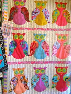 pillow, craft, baby quilts, color, owl quilt