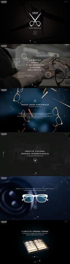 LOZZA SARTORIALE _ New website by Davide Scarpantonio, via Behance