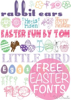 Free Easter Fonts - how cute are those bunny ears?!!