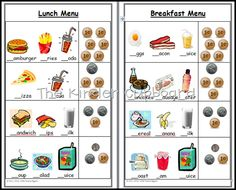#kitchen #menu #order #pad for your #dramatic #play #centers FREE at The Kinder Cupboard Blogspot focuses on #beginning #sounds