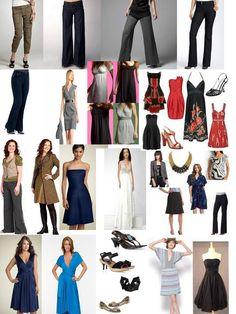 pear shaped body clothings