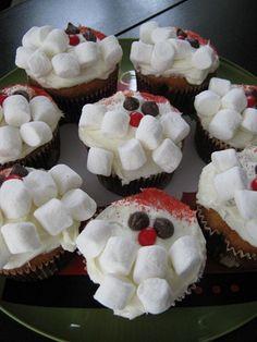 Santa Cupcakes  Easy Christmas Cupcake