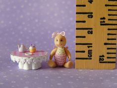 Micro Miniature OOAK Doll, full jointed and movable.
