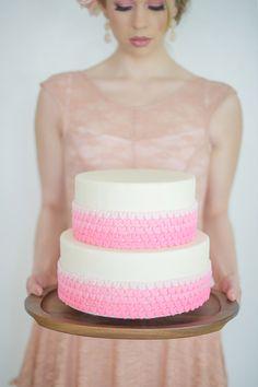 Pink Ruffle cake | Glamour & Grace