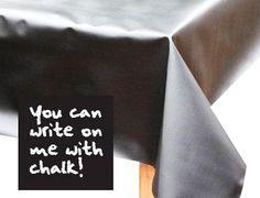 chalk board table cloth