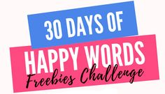 *NEW* 30 Days of Hap
