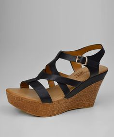 Love this Black Dileny Wedge on #zulily! #zulilyfinds