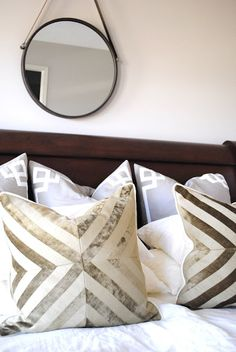 Our Greige Deco Border Pillows!!   Border pillows are available in the deco and signature pattern and in a variety sizes.
