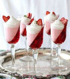 JellO Strawberry Parfait