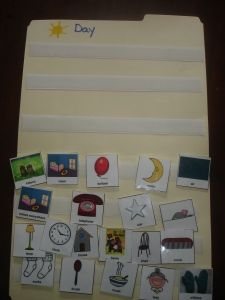 Goodnight Moon by Margaret Wise.  Free Printable PECs activity (PDF file), free printable story sequencing card activity to go along with Goodnight Moon.  Read the book, find the PEC that goes with the word, put it on the sequencing strip.  Cute graphics on the cards.  This Goodnight Moon activity is great for preschoolers and children with special needs.