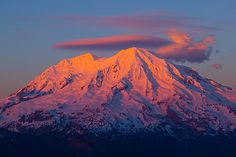 Mt. Rainier, winter sunset