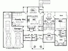 Country House Plan with 2719 Square Feet and 4 Bedrooms(s) from Dream Home Source | House Plan Code DHSW66320