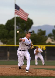 Spenser Messmore delivers a pitch in the first game of CSUB's 'Military Appreciation' series against Air Force.
