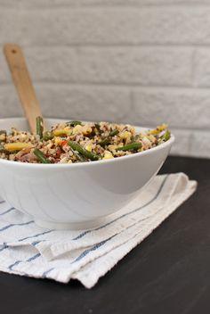 green bean and quinoa salad