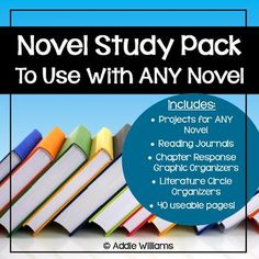 Novel Study Pack To Use With Any Novel - includes activities that can be used with any book.  Great for running literature circles, indepent novels studies or whole class novels. ($)