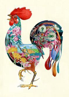 cockerel-print