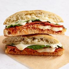 Pepperoni, Spinach, and Mozzarella Grilled Cheese Recipe - Delish.com