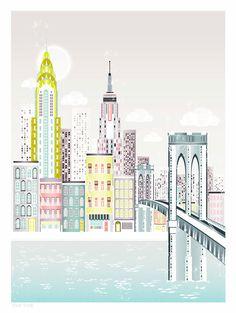 New York, Art print.