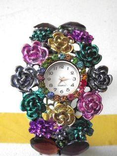 Flower Bangle Bracelet Watch
