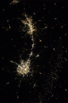 San Antonio and Austin, Texas.  Taken October 8, 2013.  Karen Nyberg from aboard the ISS.
