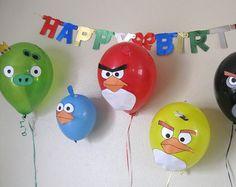 ideas cumpleaños angry birds globos