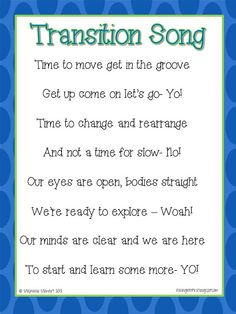 Transition Song Chant transition songs, transit song, teacher