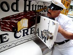 Good Humor ice cream man.  First the little truck like this, then the bigger one.