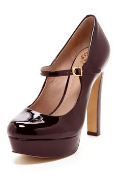 Burgundy Mary Jane Pumps