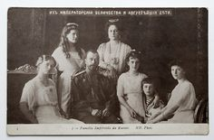 1910s Imperial Russian Tsar NICHOLAS II with Family Vintage Postcard.