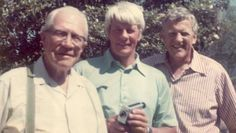 Brothers Peter Graves and James Arness with their dad.