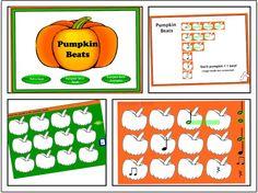 2 Pumpkin Musical / Beat Activities for SMARTBoard - just a little more