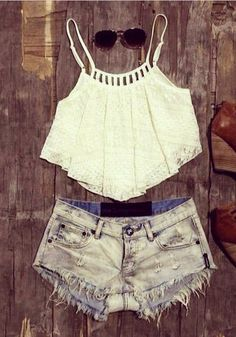 The sweetest white crop top featuring a lace flowy overlay and cutout at back. No padded. adjustable straps short outfits, croptop, flowy crop top outfits, summer outfits crop top