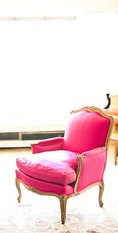hot pink chair, perfect for a hot girl!