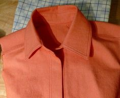 Sewing a shirt collar with collar stand