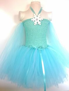Frozen inspired Queen Elsa Tutu Dress, Birthday party dress, Princess Dress, Dress up. ,Costume