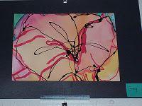 okeeff inspir, georgia okeeff, watercolor flowers o'keefe, black glue, watercolor paintings