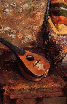 Mandolin on a chair Paul Gauguin, 1880