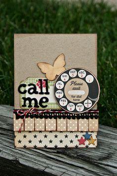 cute idea... the old phone dial...
